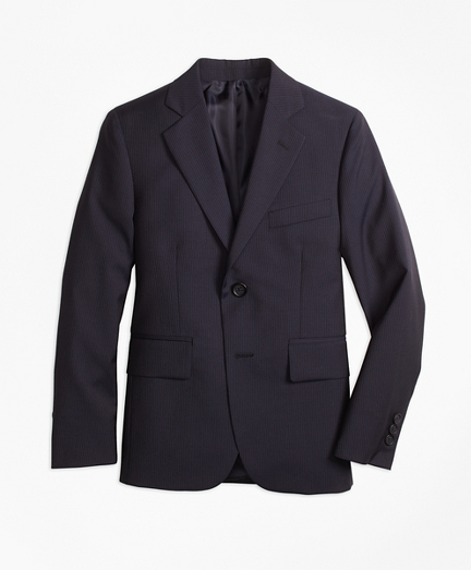 Two-Button Wool Pinstripe Jacket