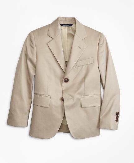 Two-Button Cotton Poplin Junior Jacket
