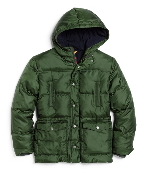 Nylon Down Coat Forest Green