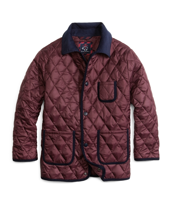 Quilted Jacket Wine