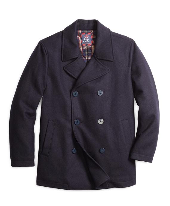 Melton Pea Coat Navy