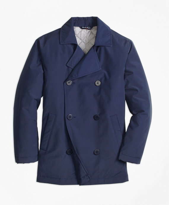 Nylon Pea Coat
