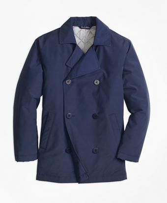 Nylon Pea Coat
