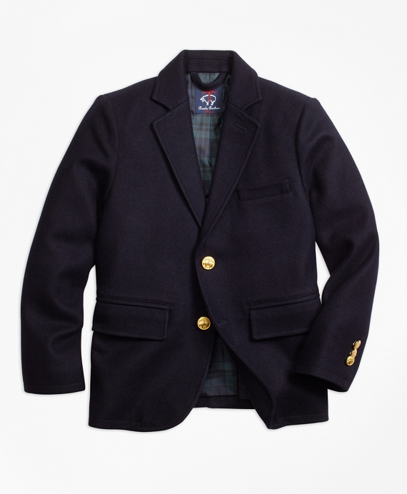 Wool Melton Blazer Navy