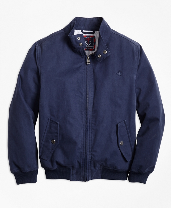 Cotton Bomber Jacket Navy