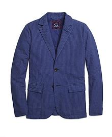 Over-Dyed Seersucker Sport Coat