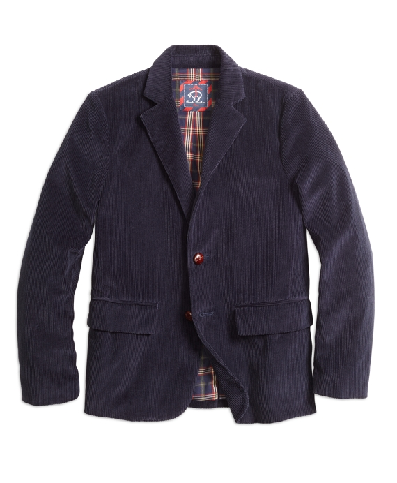 Two-Button Corduroy Sport Coat Navy