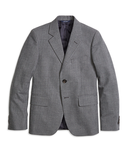 Two-Button Houndstooth Suit Jacket