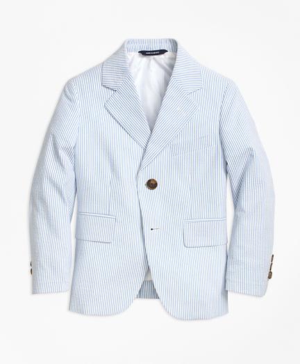 Two-Button Seersucker Prep Jacket