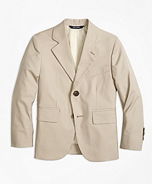 Two-Button Cotton Poplin Prep Jacket