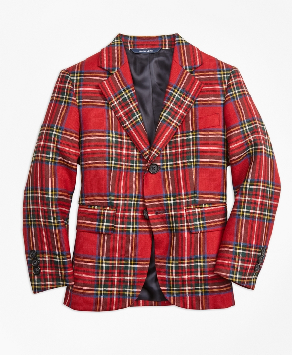 Two-Button Tartan Jacket Red-Multi