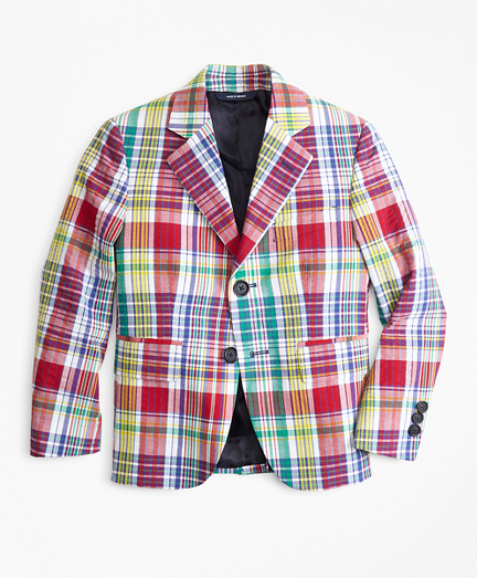 Two-Button Madras Seersucker Sport Coat
