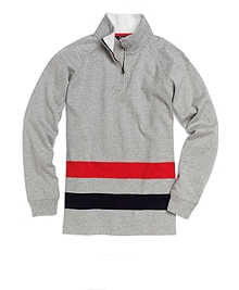 Heather Grey-Navy-Red