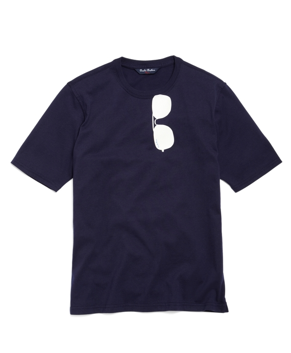 Sunglasses Screenprint T-Shirt Navy