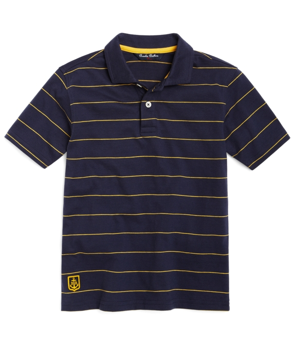 Striped Polo Navy