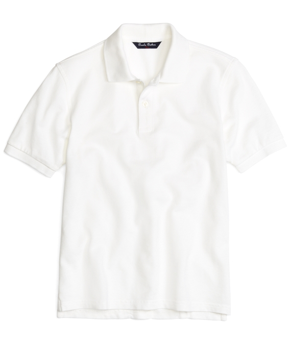 Short-Sleeve Polo Shirt White