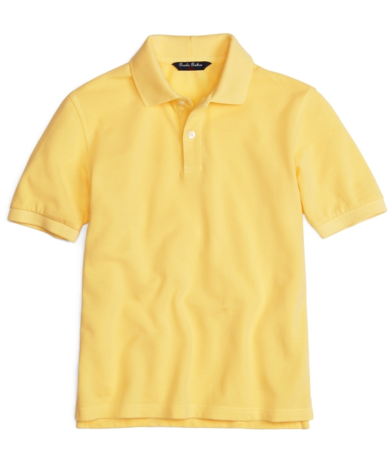 Short-Sleeve Polo Shirt Yellow