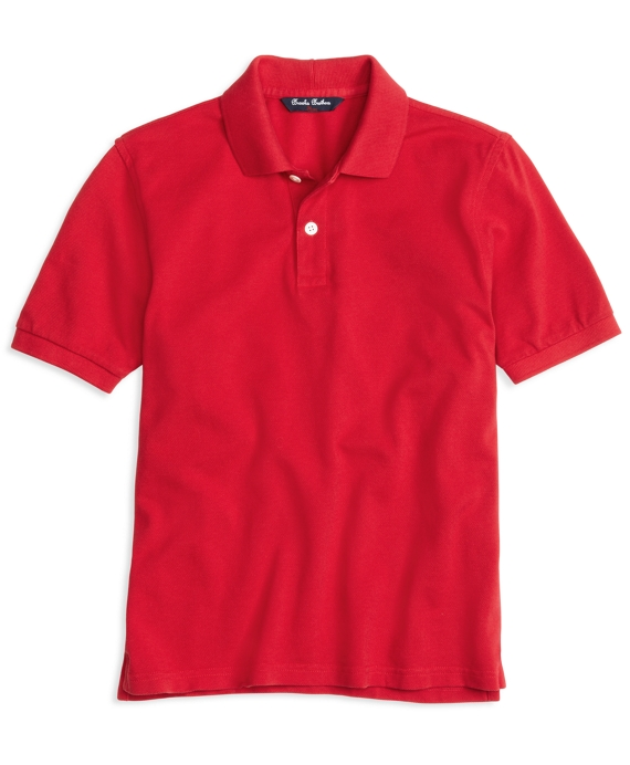 Short-Sleeve Polo Shirt Red