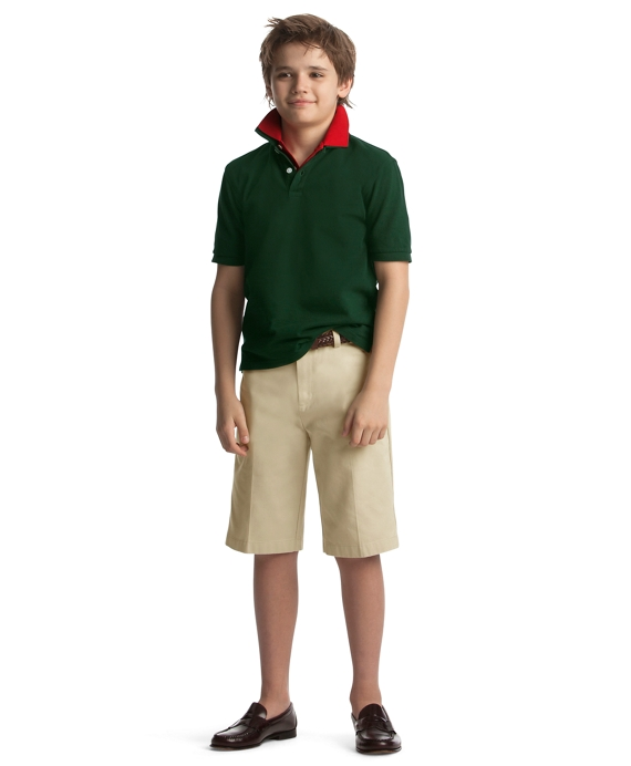 Boys 39 red short sleeve polo shirt brooks brothers for Brooks brothers boys shirts