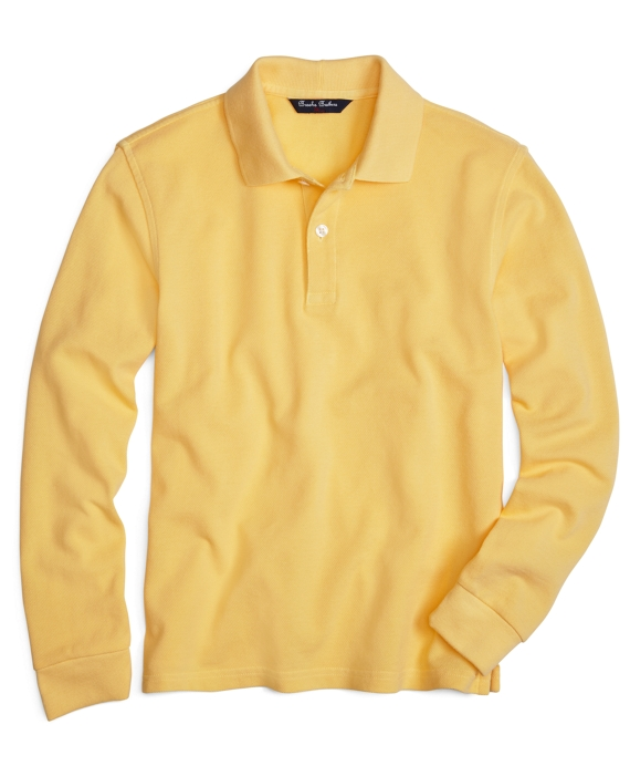 Long-Sleeve Polo Shirt Yellow