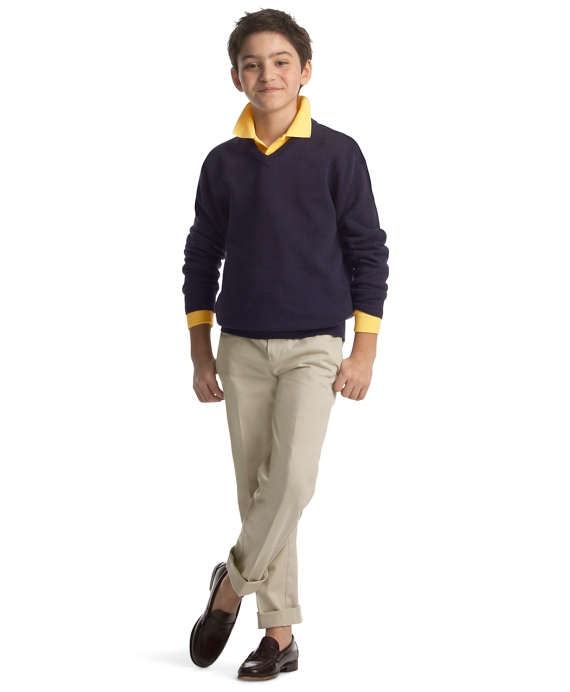 Boys 39 yellow long sleeve polo shirt brooks brothers for Brooks brothers boys shirts