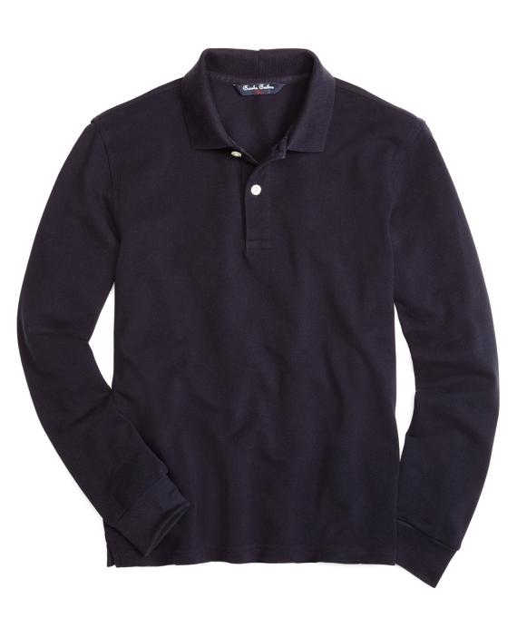 Long-Sleeve Polo Shirt Navy