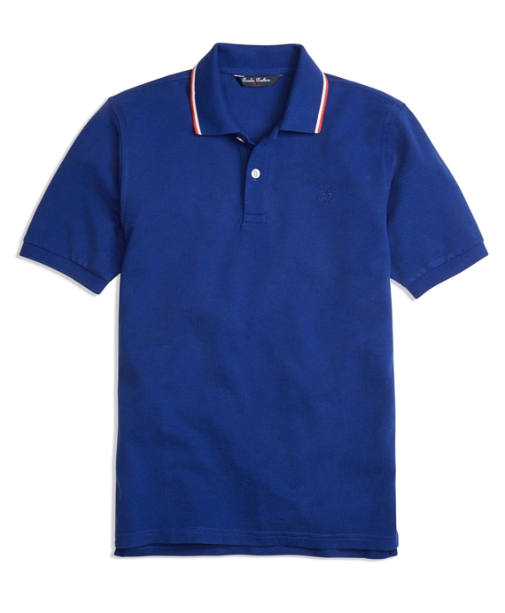 Tipped Polo Shirt Blue