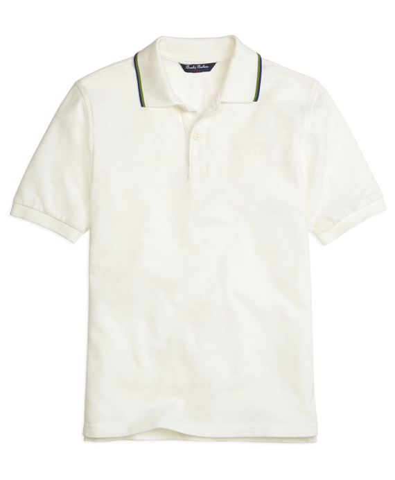 Tipped Polo Shirt White