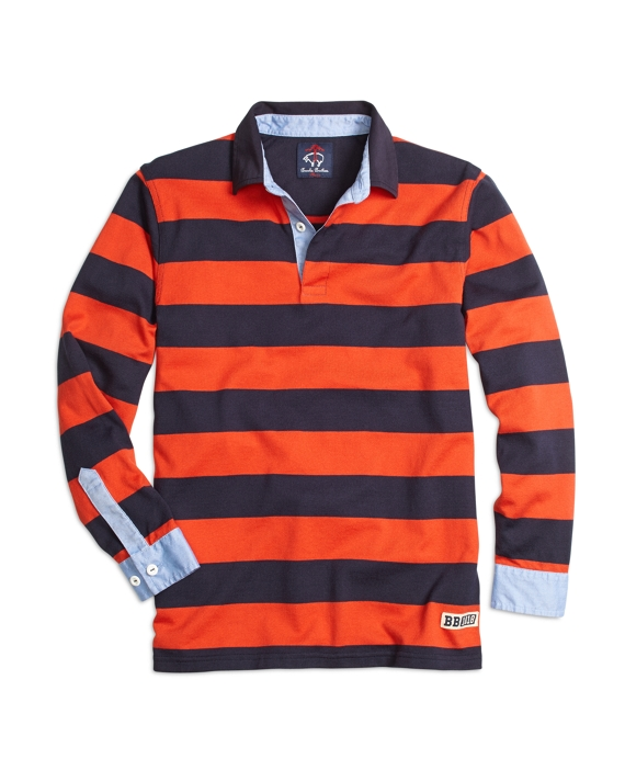 Bar Stripe Rugby Navy-Orange