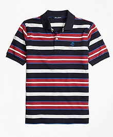 Cotton Multi Stripe Polo