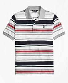 Cotton Multi Stripe Polo