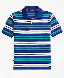 Double Stripe Pique Polo
