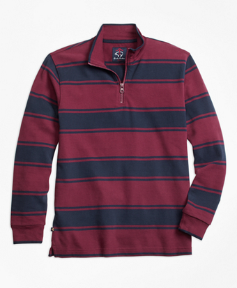 Alternate Stripe Half-Zip Rugby