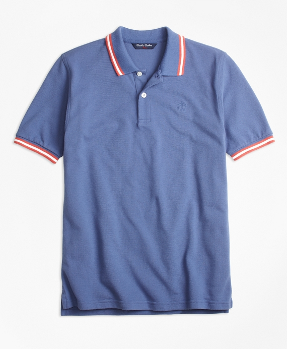 Cotton Tipped Polo Blue