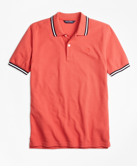Cotton Tipped Polo Shirt Red