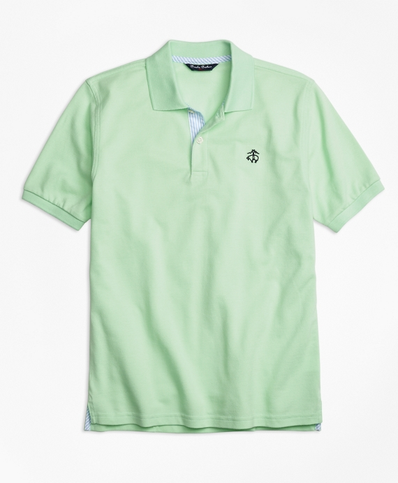 Oxford Trim Pique Polo Shirt