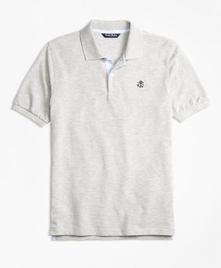 Oxford Trim Pique Polo Shirt