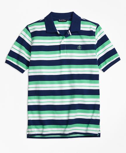 Alternate Stripe Pique Polo Shirt
