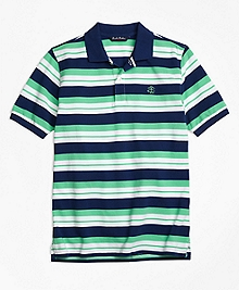 Alternate Stripe Pique Polo