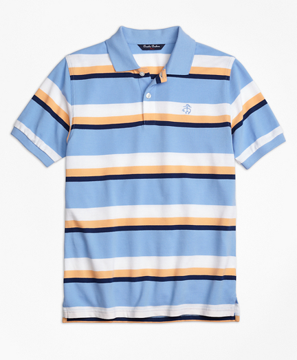 Large Stripe Polo Shirt