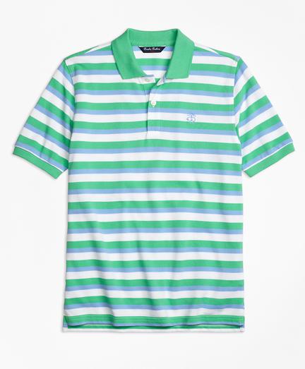 Double Stripe Pique Polo Shirt
