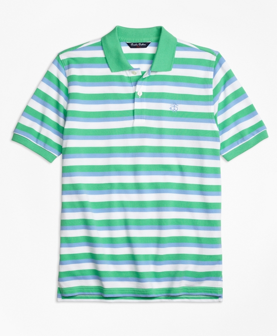 Double Stripe Pique Polo Shirt