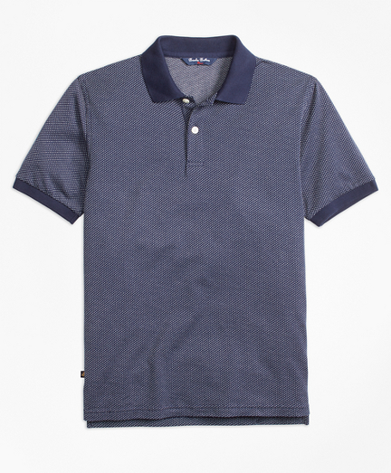 Cotton Bird's-Eye Polo Shirt