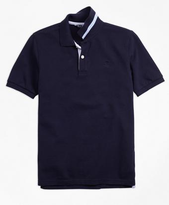 Short-Sleeve Cotton Pique Polo Shirt