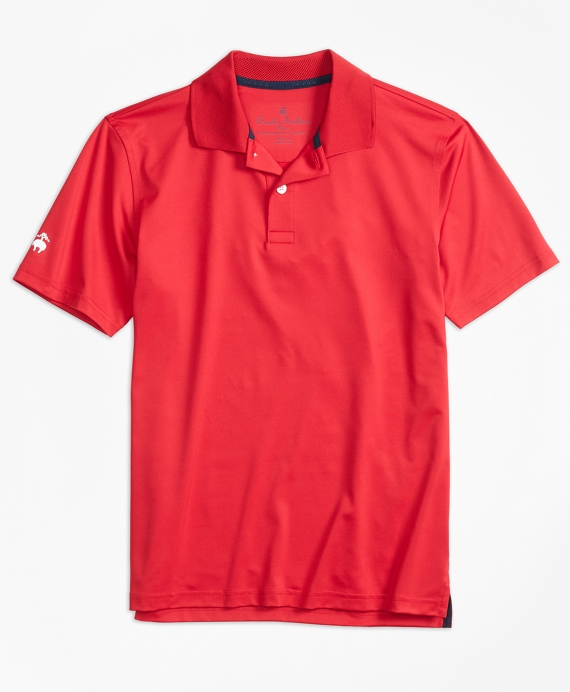 Solid Performance Polo Shirt Red