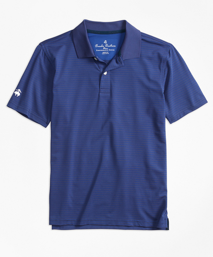Stripe Performance Polo Shirt