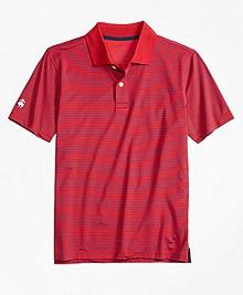 Stripe Performance Polo Shirt