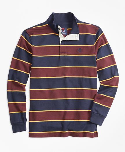 Bold Stripe Mockneck Rugby
