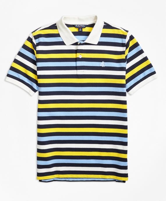 Short-Sleeve Bold Stripe Pique Polo