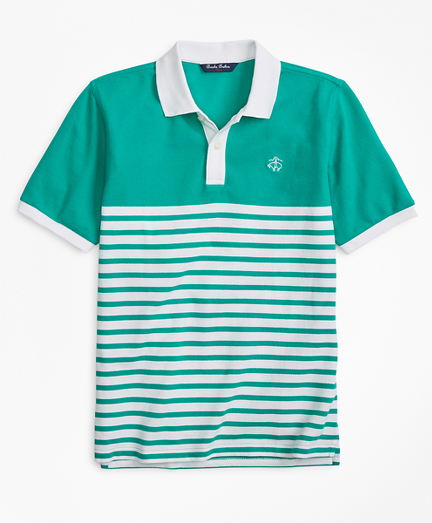 Nautical Stripe Pique Polo Shirt